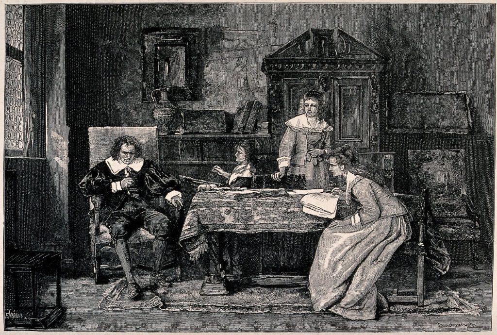 John Milton Dictates to his daughters