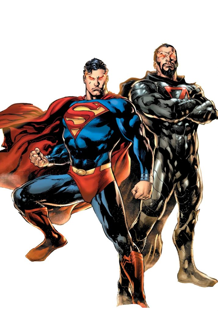 Superman and General Zod.