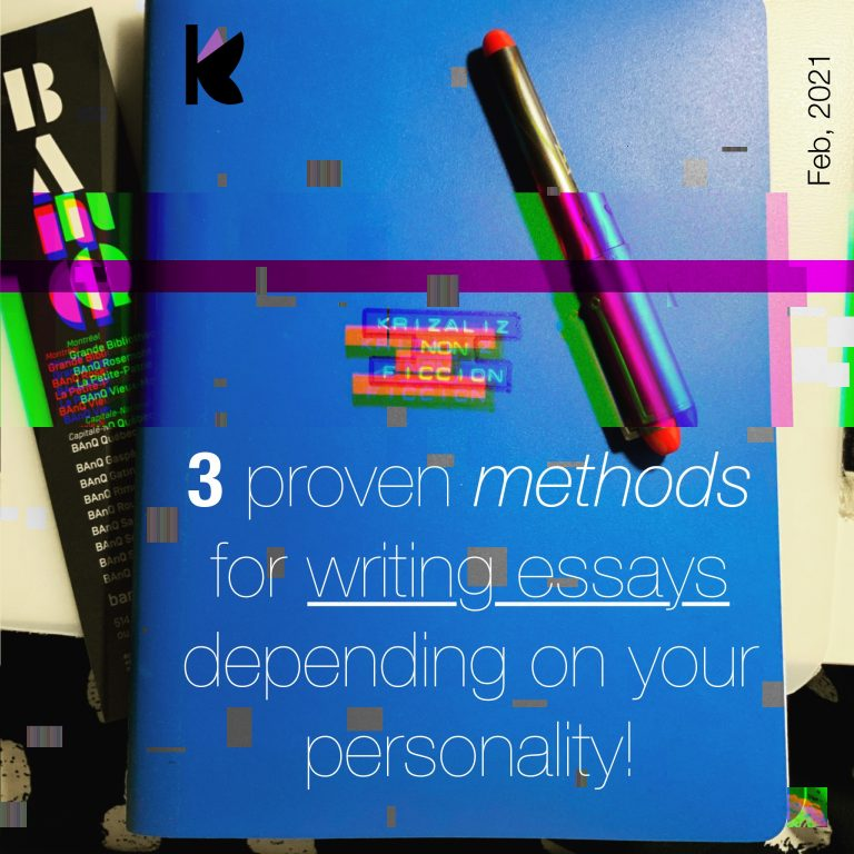 3 proven methods for writing essays by Editions Krizaliz