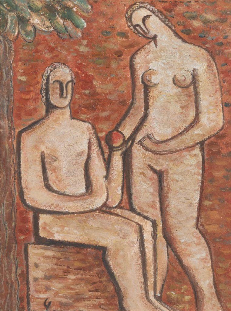 Eve and Adam by Jose Pedro Costigliolo