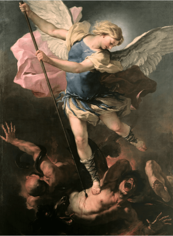 """""""St. Michael"""" by Luca Giordano, 1663 Angels in Paradise Lost"""
