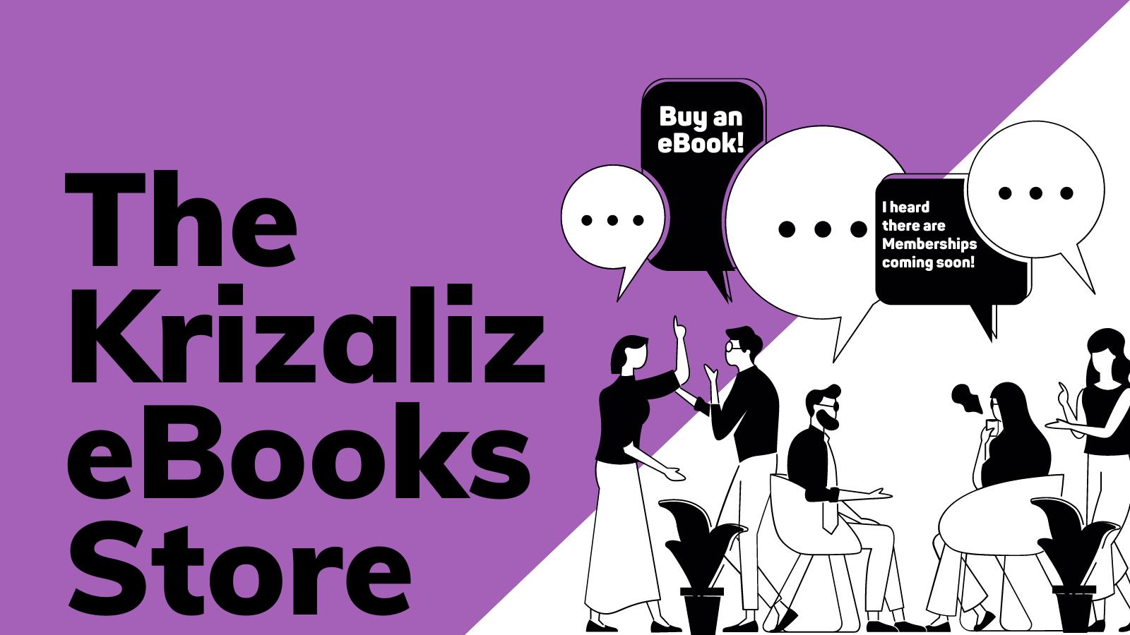 the krizaliz ebooks store banner